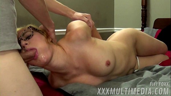 Art student gets hogtied and facefucked